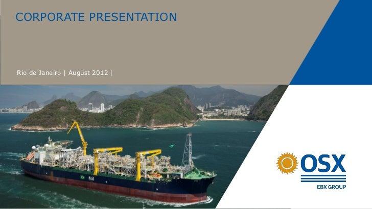 Osx corporate presentation august
