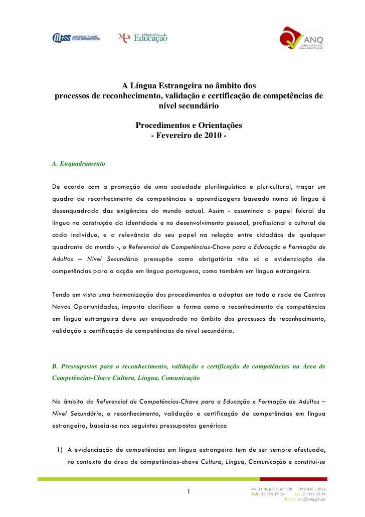 OT_Validação De Competências De Língua Estrangeira