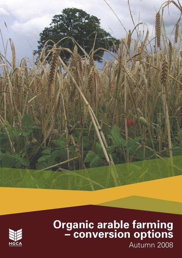 Organic Arable Farming - Conversion