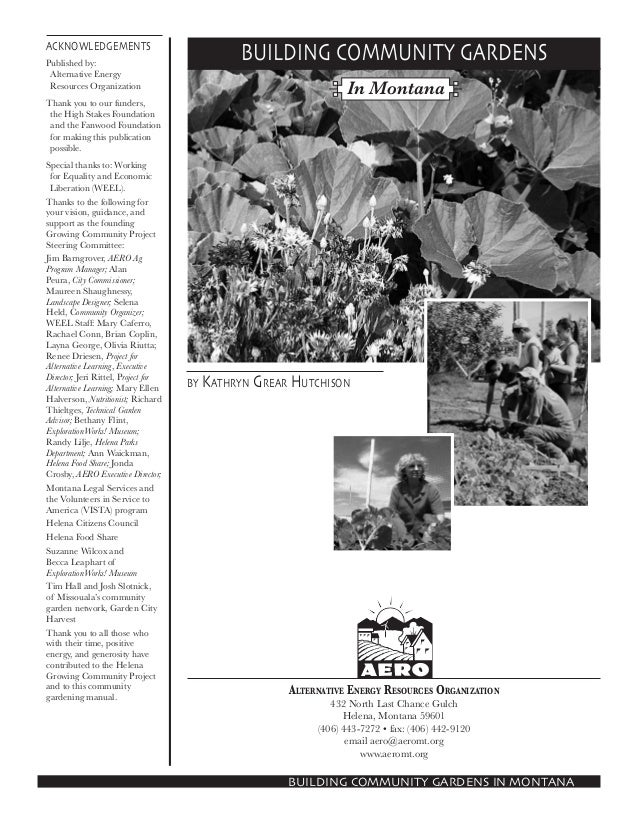 Building Community Gardens Manual