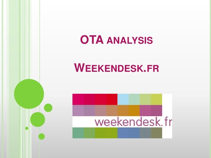OTA analysisWeekendesk.fr<br />