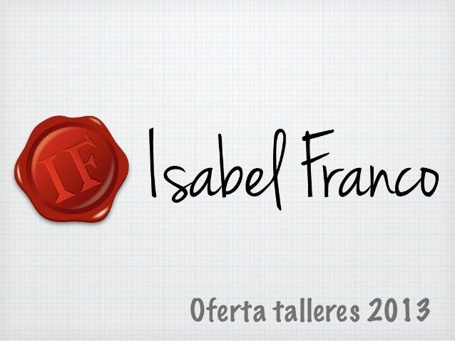 Oferta talleres 2013