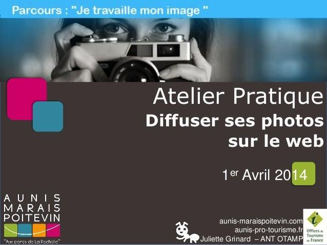 aunis-maraispoitevin.com aunis-pro-tourisme.fr Juliette Grinard – ANT OTAMP Atelier Pratique Diffuser ses photos sur le we...