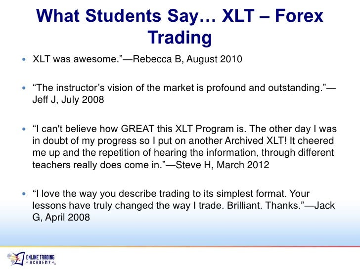 Online trading academy xlt options