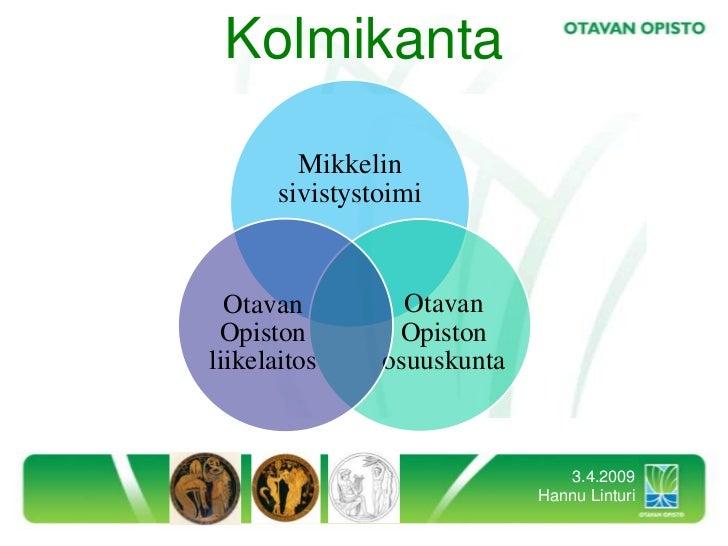 Kolmikanta           Mikkelin        sivistystoimi                     Otavan   Otavan                  Opiston  Opiston  ...