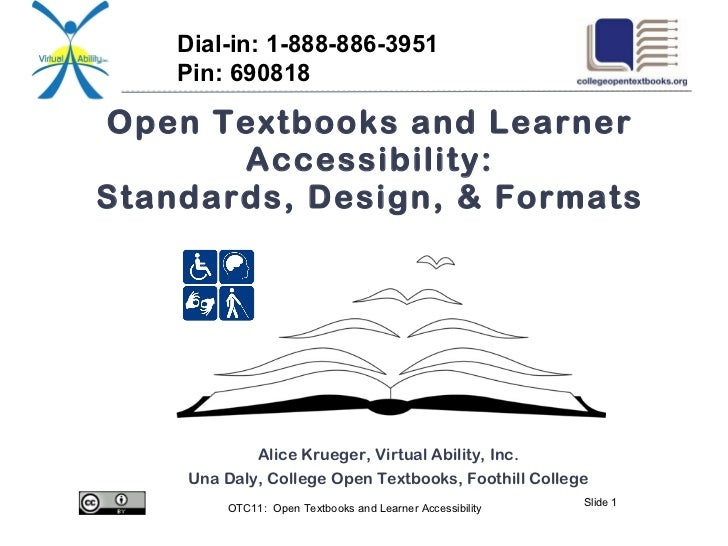 OTC11: Open Textbooks and Learner Accessibility: Standards, Design, and Format