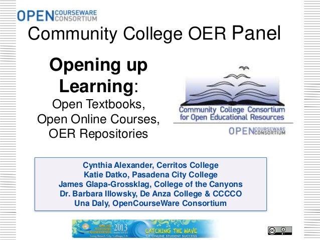 Cynthia Alexander, Cerritos CollegeKatie Datko, Pasadena City CollegeJames Glapa-Grossklag, College of the CanyonsDr. Barb...