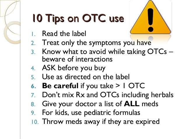Use Kids OTC Meds Safely