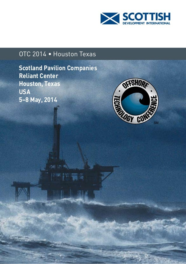 Scotland Pavilion at OTC 2014 - Come and meet us!