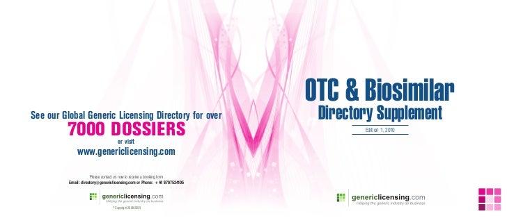 OTC & Biosimilar Directory 2010