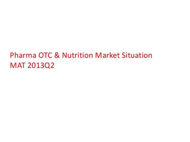 Pharma OTC & Nutrition Market Situation MAT 2013Q2