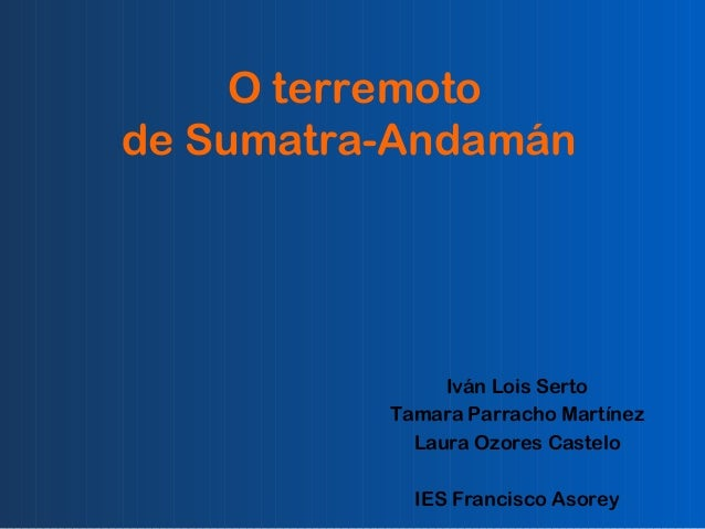 O terremoto de sumatra andaman