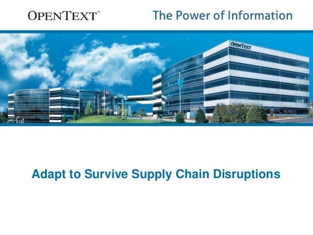 Adapt to Survive Supply Chain Disruptions