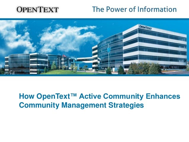 How OpenText™ Active Community Enhances Community Management Strategies