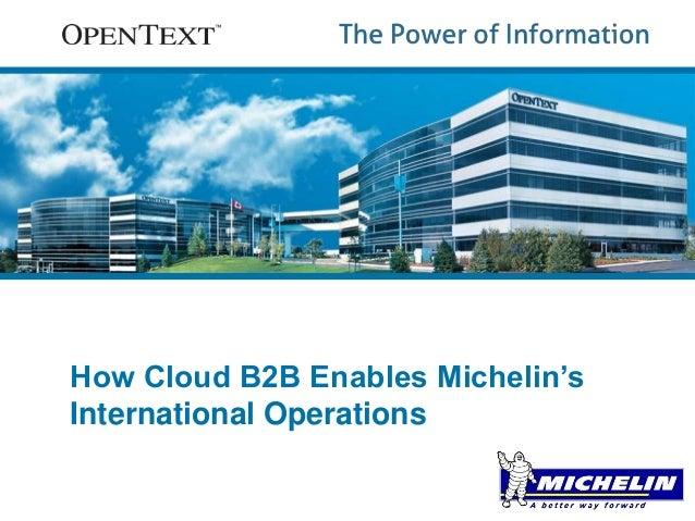 How Cloud B2B Enables Michelin's  International Operations