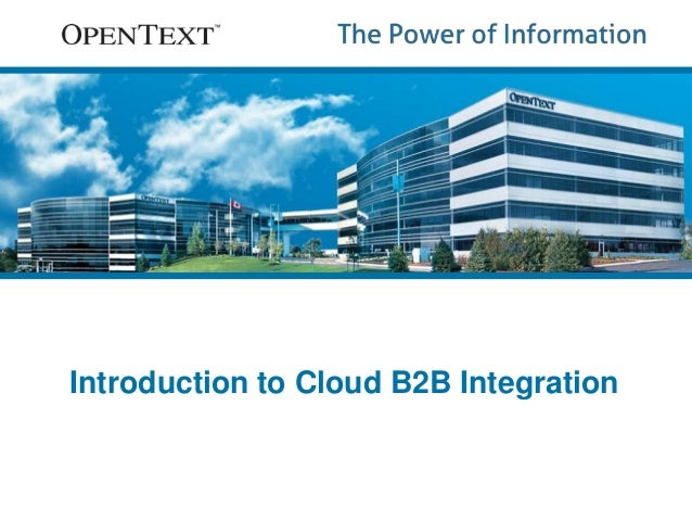 Introduction to Cloud B2B Integration