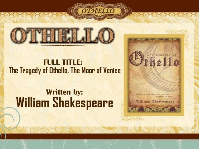 the crime in othello by william shakespeare A lesson powerpoint looking at how the opening act of othello by william shakespeare works as an exposition suitable for as and a level this lesson.