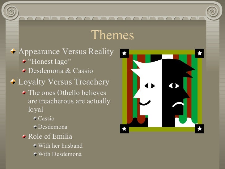 appearance vs reality othello thesis Essays research papers - appearance versus reality in shakespeare's othello   essay on appearance vs reality in othello and twelfth night - appearance.