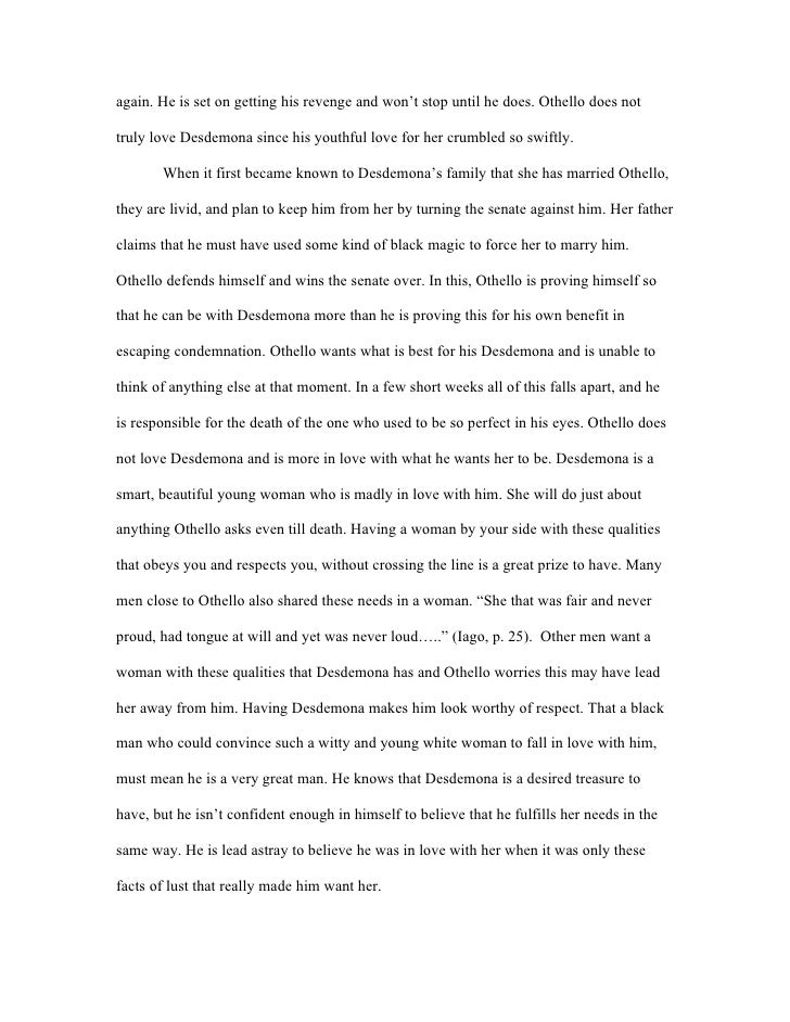 Othello Essays | GradeSaver