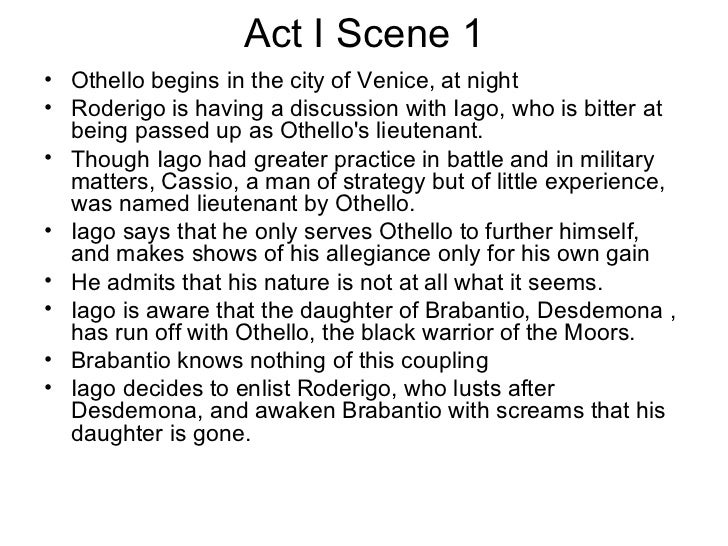 othello passage analysis act 3 scene No fear shakespeare – othello (by sparknotes, transcription by alex woelffer) -2-  act 1, scene 1, page 3 60 65 and such a one do i profess myself for, sir,.