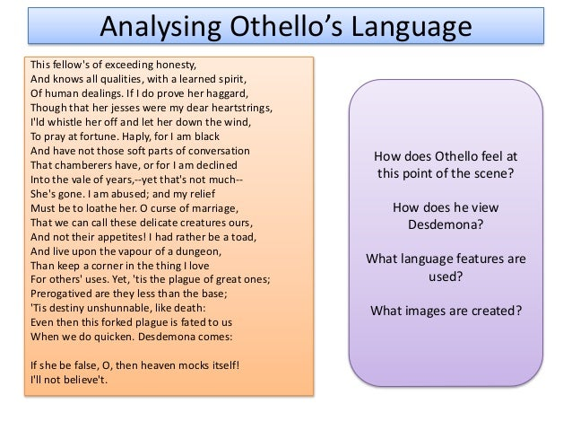 essays of othello 1 discuss the role that race plays in shakespeare's portrayal of othellohow do the other characters react to othello's skin color or to the fact that he is a moor.