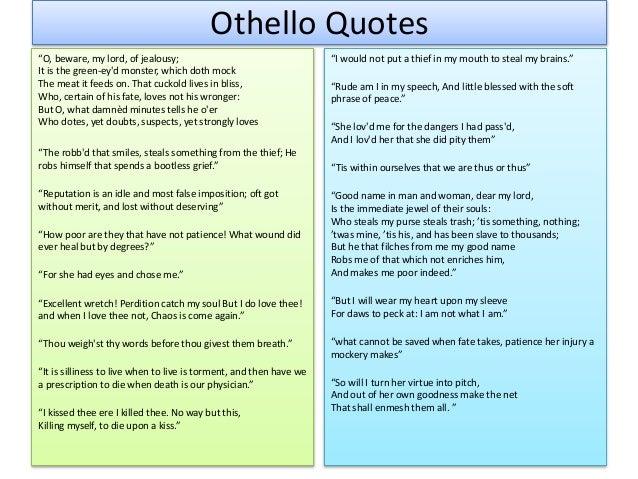 Jealousy In Othello Essay
