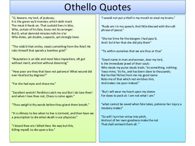 Quotes About Love In Othello : Othello as a Tragic Hero
