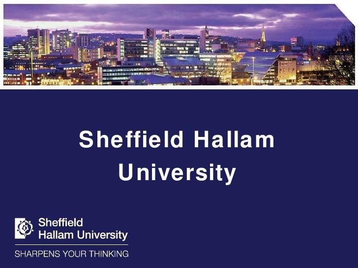 Introduction To Sheffield Hallam University