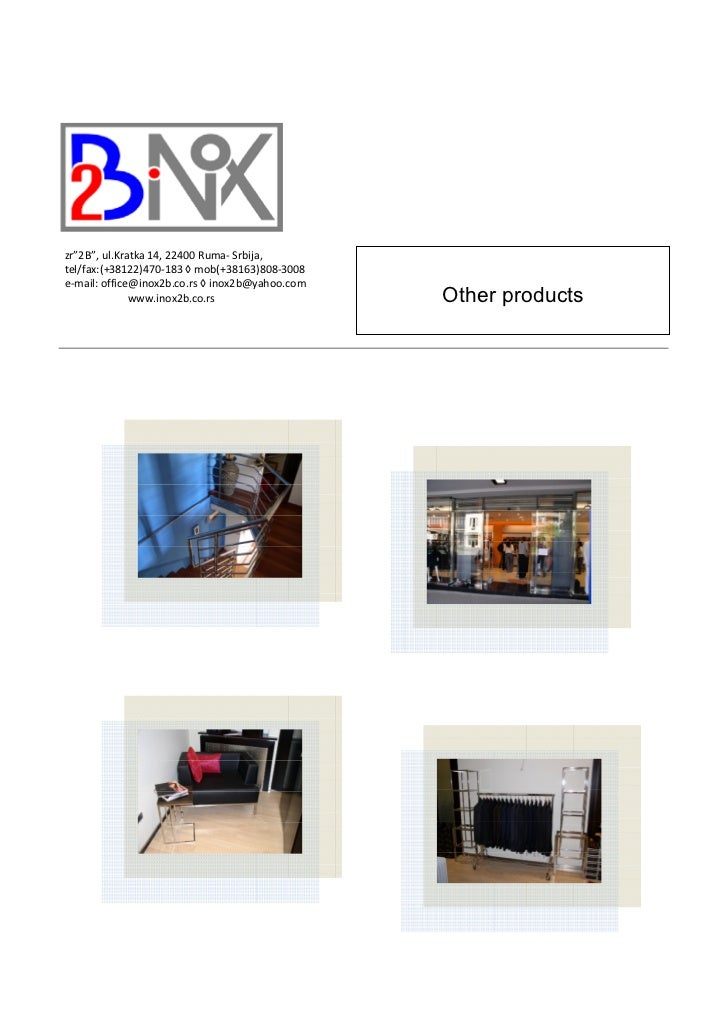 Other products 2B Inox