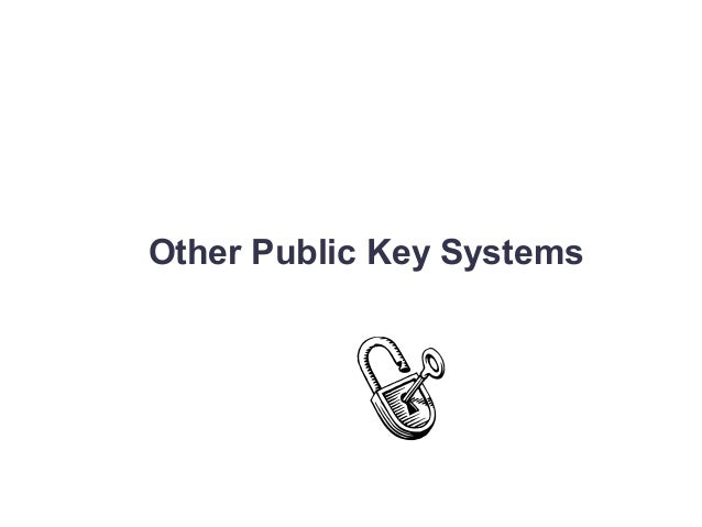 Other Public Key Systems