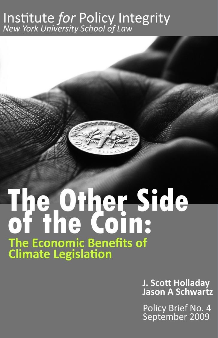 The Other Side of the Coin  The Economic Benefits of Climate Legislation
