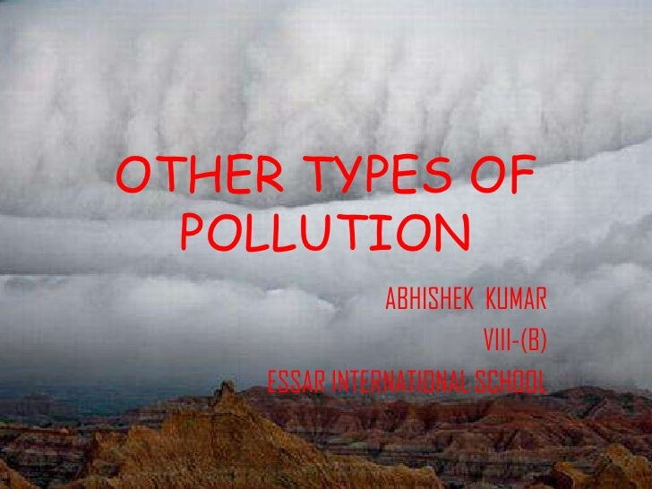 Other types of pollution