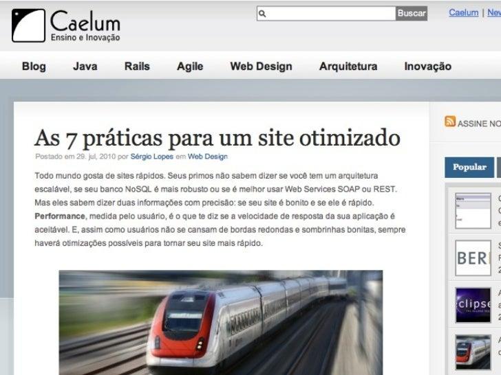 Práticas para um Site Otimizado - CaelumDay in Rio 2011