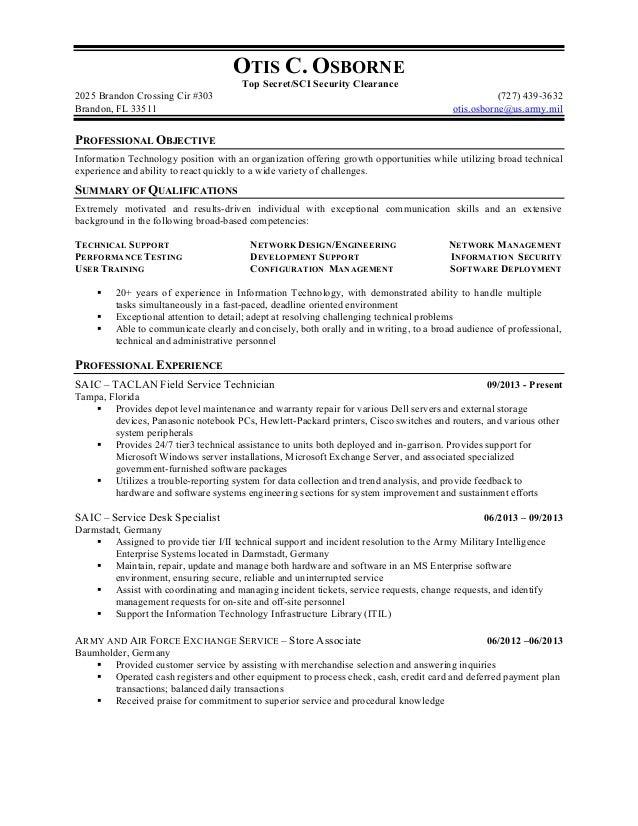 resume security clearance exle cleared job fair job seeker