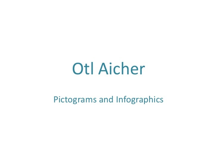 Otl AicherPictograms and Infographics