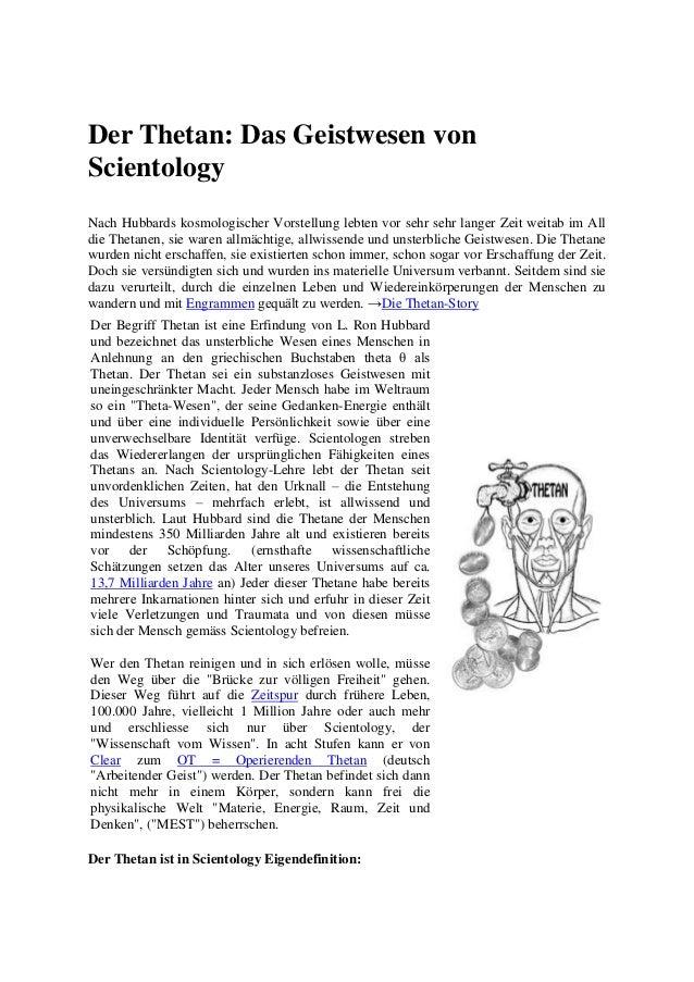Der Thetan: Das Geistwesen von Scientology Nach Hubbards kosmologischer Vorstellung lebten vor sehr sehr langer Zeit weita...