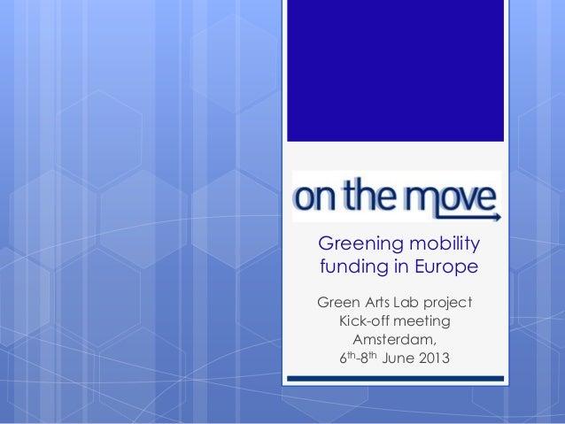 On the Move - presentation GALA kick-off
