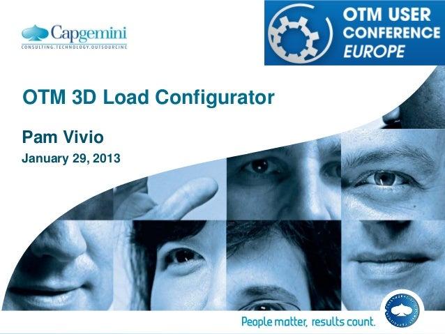OTM 3D Load ConfiguratorPam VivioJanuary 29, 2013