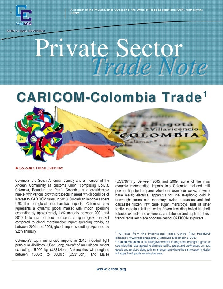 A product of the Private Sector Outreach of the Office of Trade Negotiations (OTN), formerly the+                         ...