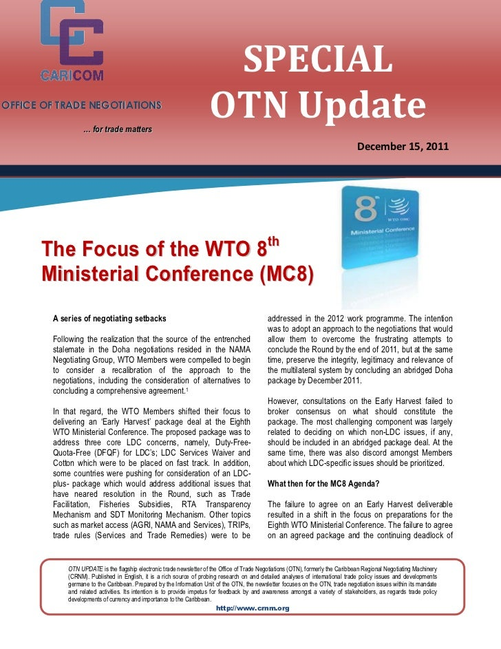 SPECIALOFFICE OF TRADE NEGOTIATIONS                  … for trade matters                                                  ...