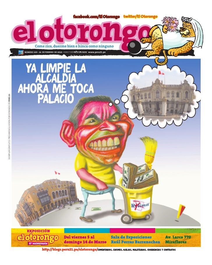 facebook.com/El Otorongo twitter/El Otorongo                                                                              ...