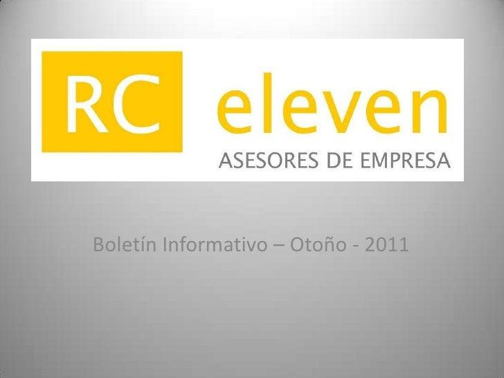 Boletín Informativo – Otoño - 2011<br />