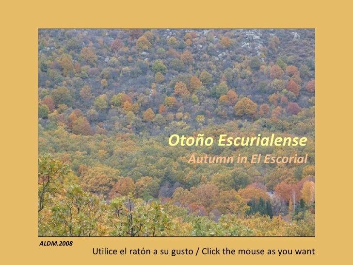 Otoño Escurialense Autumn in El Escorial Utilice el ratón a su gusto / Click the mouse as you want ALDM.2008