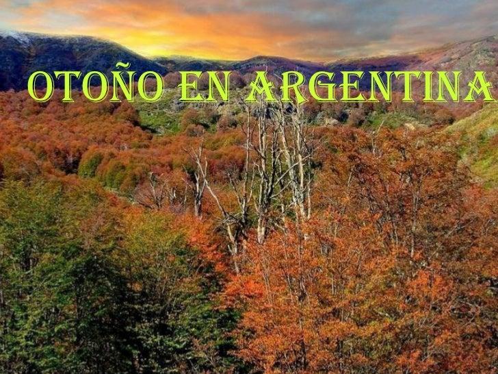 Otoño en Argentina