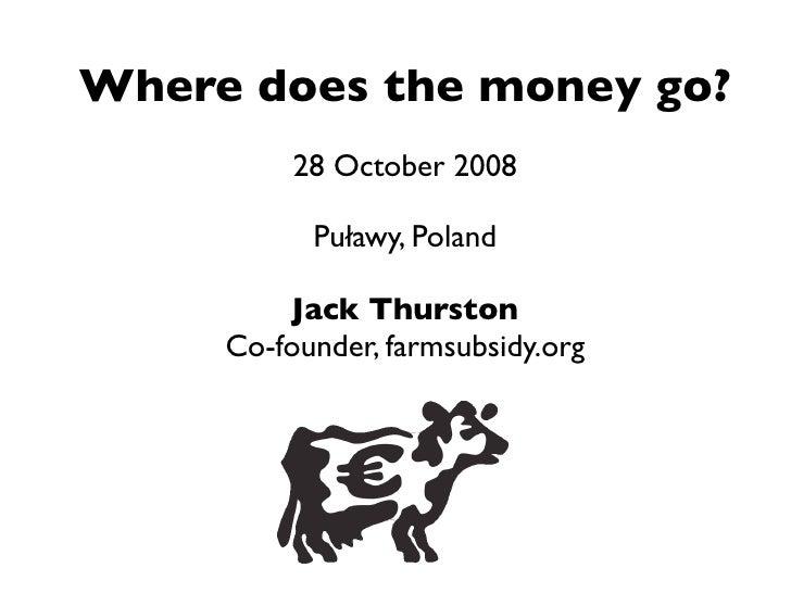 Farm Subsidy Transparency