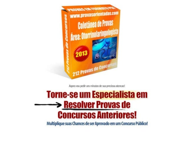 Coletânea de provas Otorrinolaringologista