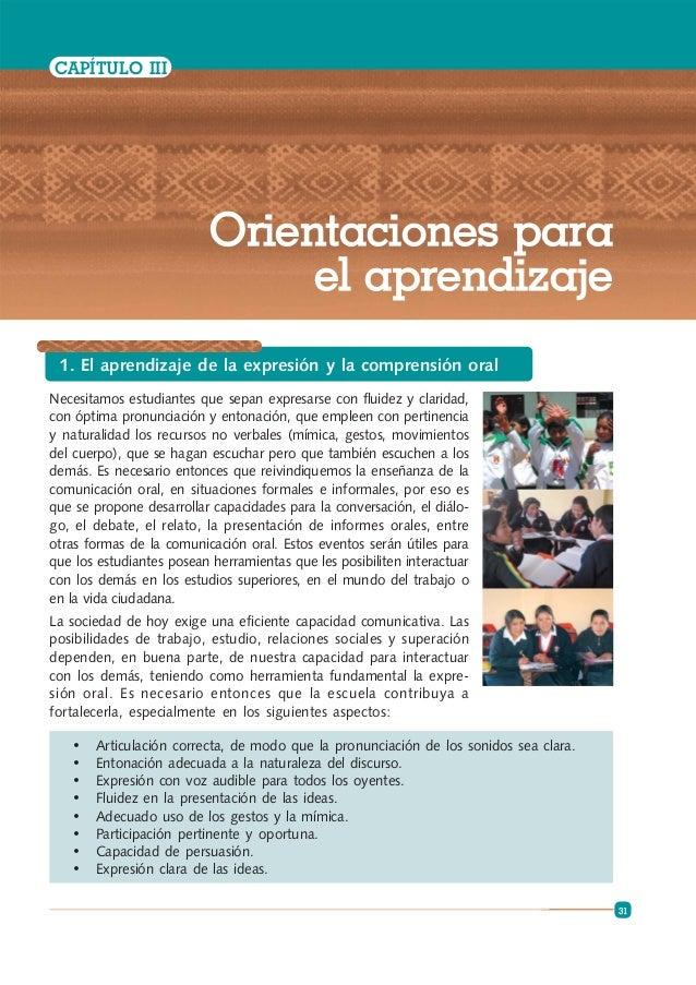 ORIENTACIONES PARA EL TRABAJO PEDAGÓGICO EN EL ÁREA DE COMUNICACIÓN 2 (MINEDU-2009)