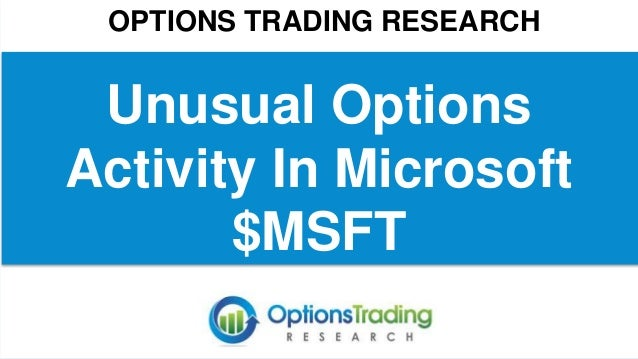 Option trading activity