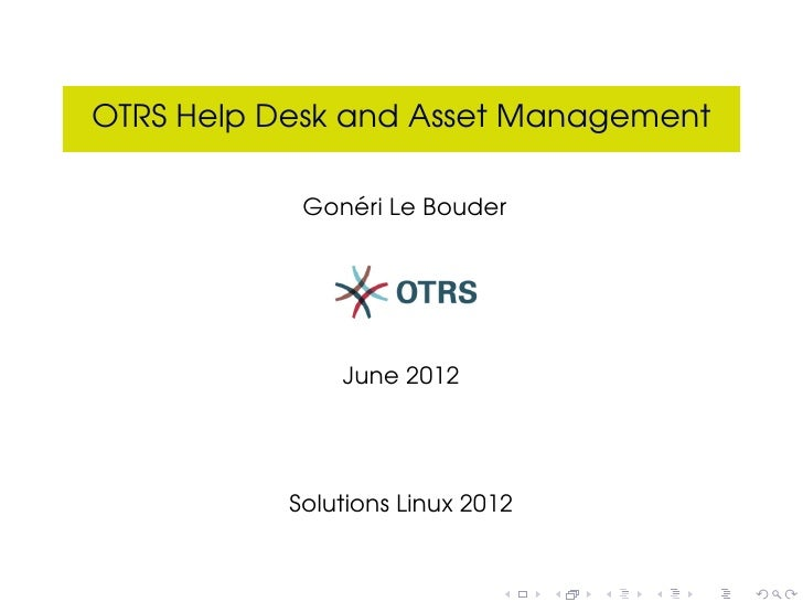 Otrs help desk-solutions-linux-2012