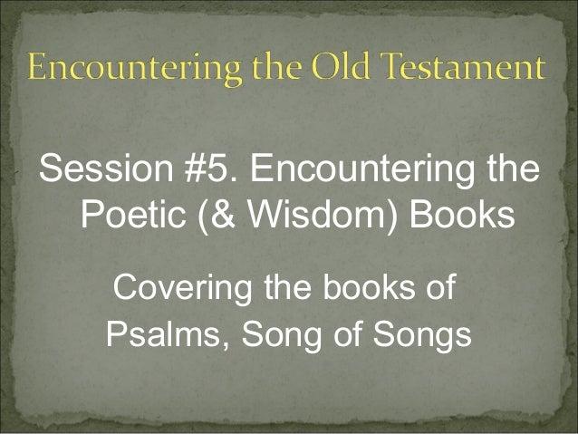 OT Session 5 Wisdom Literature (Part 1)